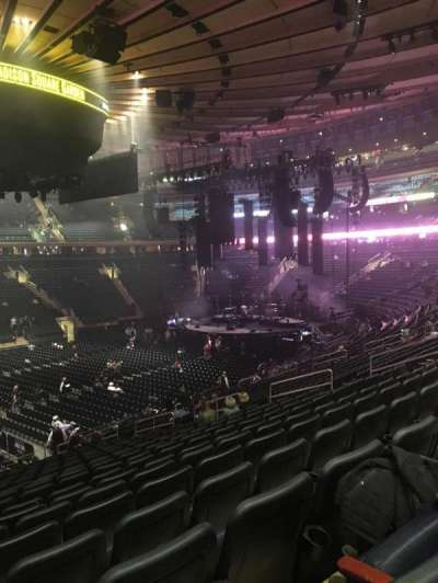 Madison Square Garden, Abschnitt: 106, Reihe: 22, Platz: 3