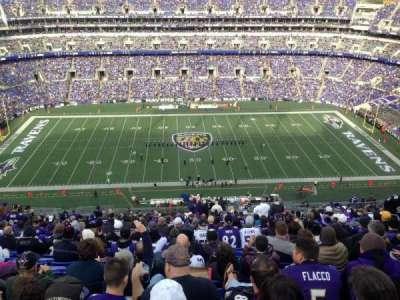 M&T Bank Stadium, Abschnitt: 527, Reihe: 29, Platz: 3-4