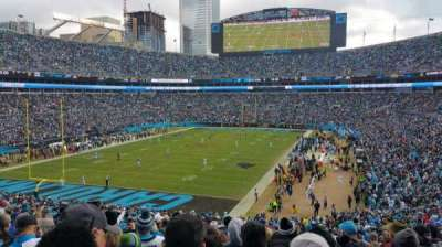 Bank of America Stadium, Abschnitt: 254, Reihe: 16, Platz: 11