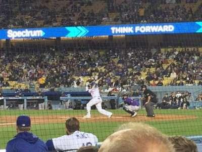 Dodger Stadium, Abschnitt: 13DG, Reihe: DD, Platz: 12