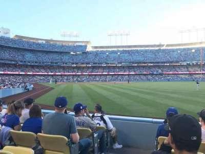 Dodger Stadium, Abschnitt: 52FD, Reihe: E, Platz: 1