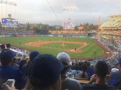 Dodger Stadium, Abschnitt: 111LG, Reihe: L, Platz: 4