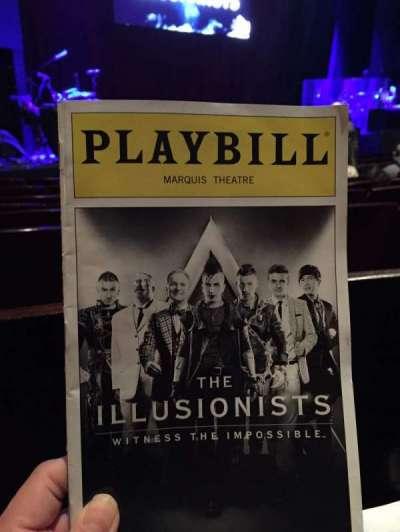 Marquis Theatre, Abschnitt: Orchestra Left, Reihe: F, Platz: 7