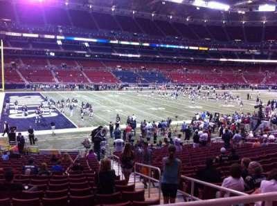 The Dome at America's Center, Abschnitt: 120, Reihe: U, Platz: 2