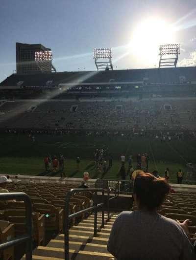 Bobby Dodd Stadium, Abschnitt: CL-1, Reihe: 20, Platz: 1