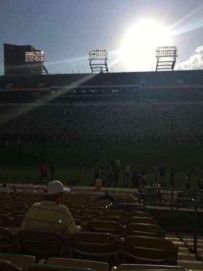 Bobby Dodd Stadium, Abschnitt: CL-2, Reihe: 18, Platz: 28