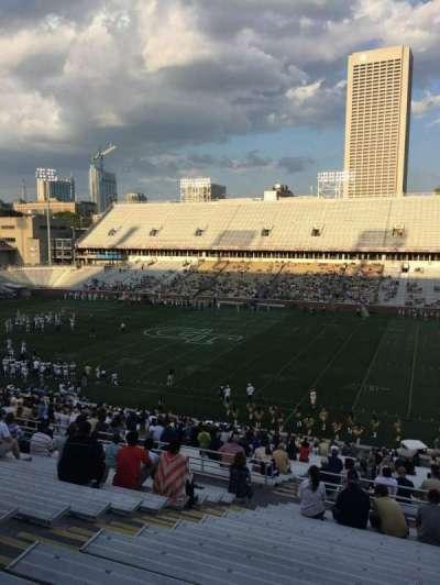 Bobby Dodd Stadium, Abschnitt: 103, Reihe: 44, Platz: 19