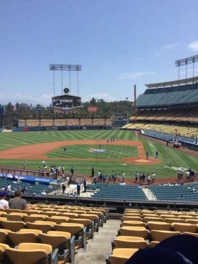 Dodger Stadium, Abschnitt: 119LG, Reihe: L, Platz: 7