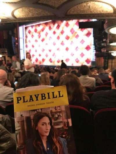 Brooks Atkinson Theatre, Abschnitt: Orchestra, Reihe: P, Platz: 26