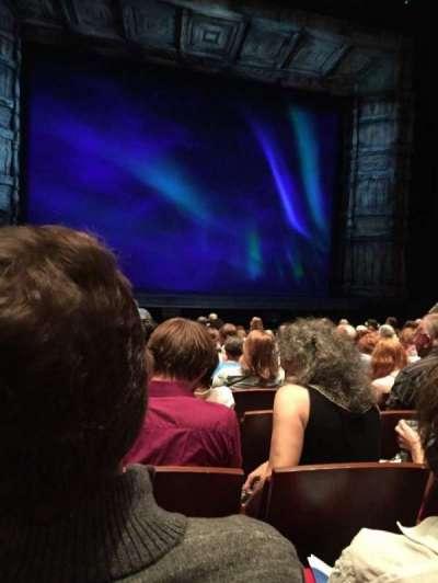 The Buell Theatre, Abschnitt: Orch, Reihe: K, Platz: 22