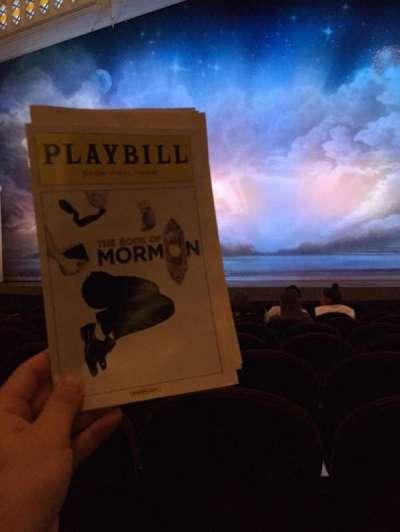 Eugene O'Neill Theatre, Abschnitt: Orch, Reihe: J, Platz: 109