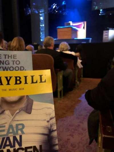Music Box Theatre, Abschnitt: Orch, Reihe: F, Platz: 2