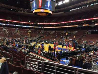 Wells Fargo Center Abschnitt 104