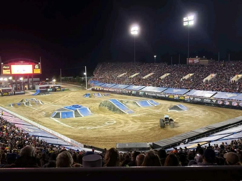 Sitzplatz-Aussicht für Sam Boyd Stadium Bereich 320 Reihe 45 Platz 25