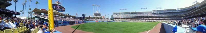 Sitzplatz-Aussicht für Dodger Stadium Abschnitt 49FD Reihe AA