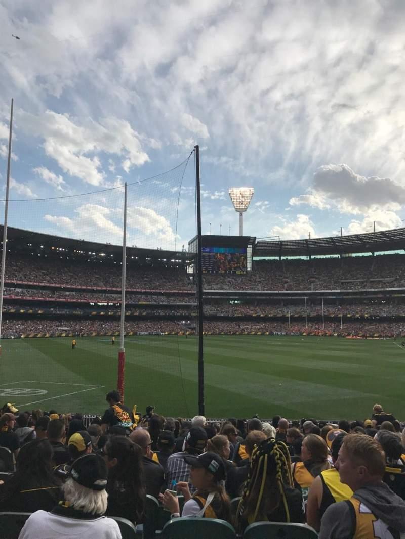 Sitzplatz-Aussicht für Melbourne Cricket Ground Abschnitt M1 Reihe Q Platz 14
