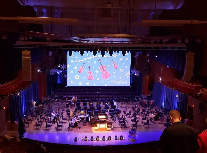 Sitzplatz-Aussicht für Joseph Meyerhoff Symphony Hall Abschnitt Terrace Center Left Reihe J Platz 109