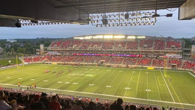 Sitzplatz-Aussicht für TD Place Stadium Bereich CC Reihe 23 Platz 11