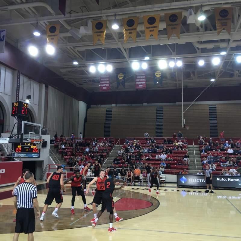 John M. Belk Arena, Abschnitt: 9, Reihe: B, Platz: 1