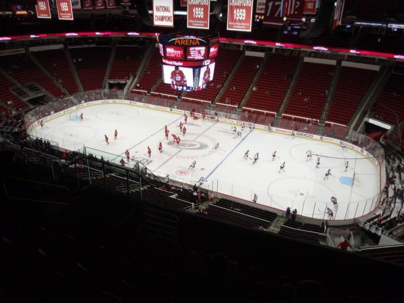 Sitzplatz-Aussicht für PNC Arena Abschnitt 302 Reihe H Platz 8