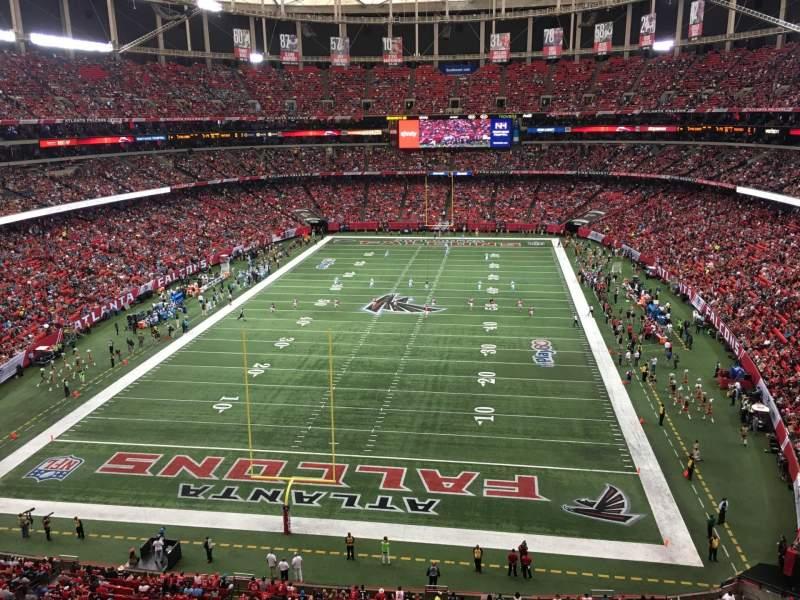 Sitzplatz-Aussicht für Georgia Dome Abschnitt 333 Reihe 1 Platz 7
