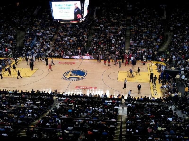 Sitzplatz-Aussicht für Oracle Arena Abschnitt 216 Reihe 15 Platz 5
