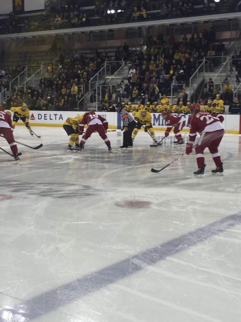 Sitzplatz-Aussicht für Yost Ice Arena Abschnitt 6 Reihe 1 Platz 1-4
