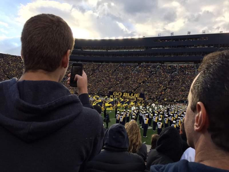 Michigan Stadium, Abschnitt: 44, Reihe: 2, Platz: 10