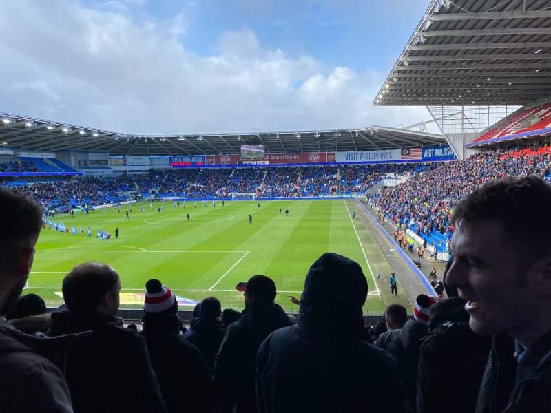 Sitzplatz-Aussicht für Cardiff City Stadium Abschnitt 123 Reihe DD Platz 127