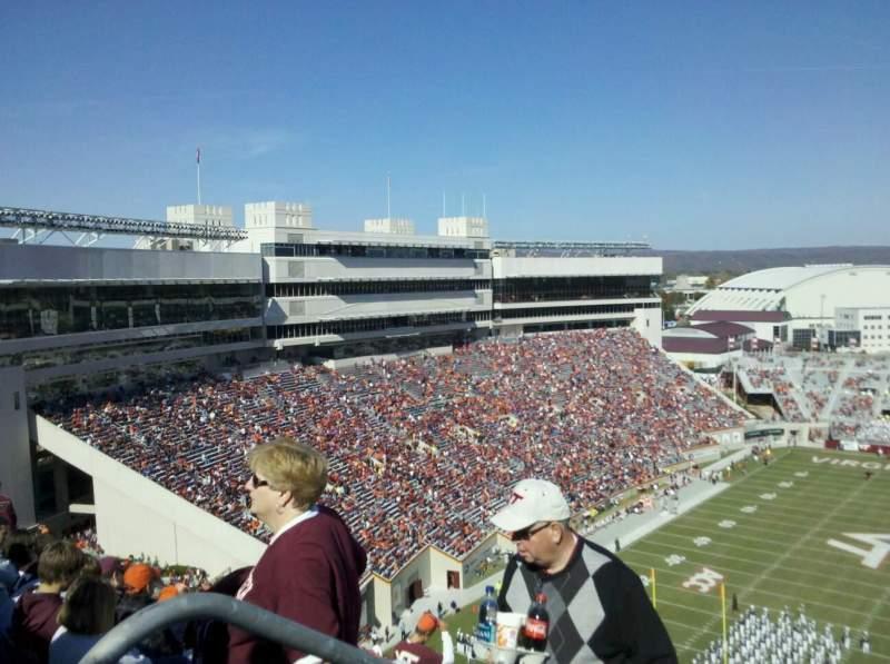 Sitzplatz-Aussicht für Lane Stadium Bereich 503 Reihe DD Platz 23