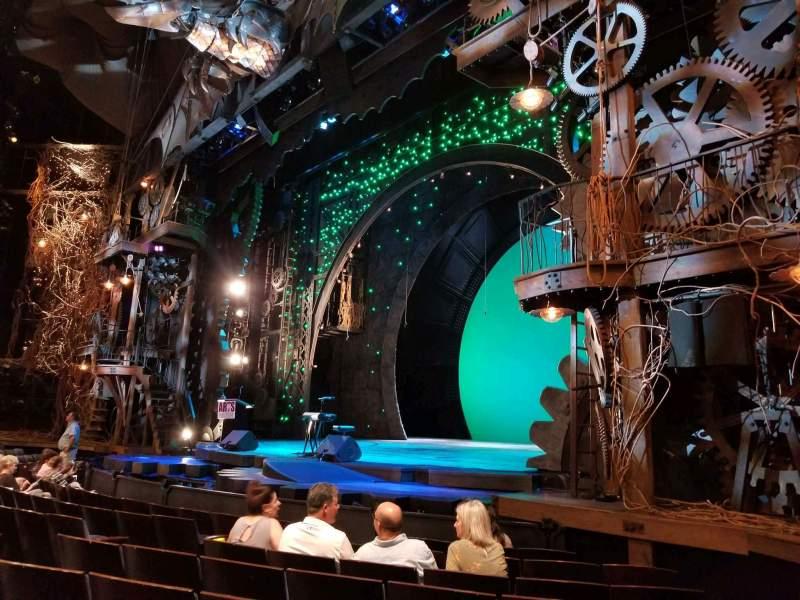 Sitzplatz-Aussicht für Gershwin Theatre Abschnitt Orchestra R Reihe D Platz 20