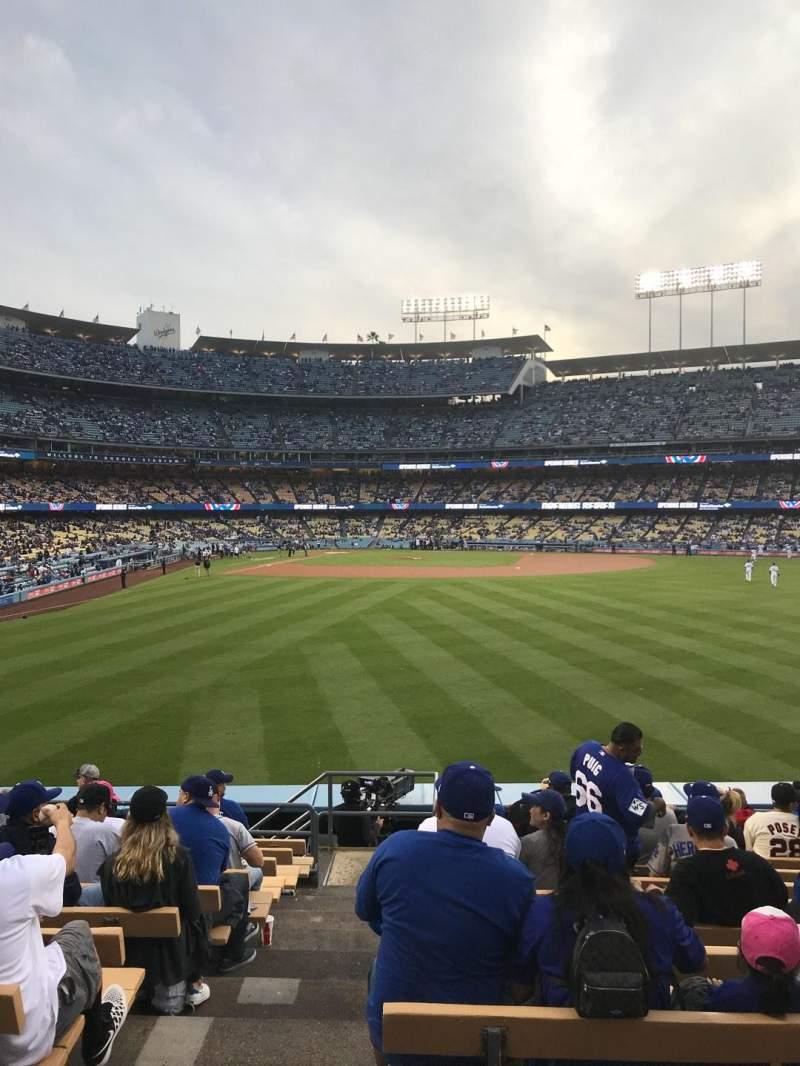 Dodger Stadium, Abschnitt: 306PL, Reihe: M, Platz: 1