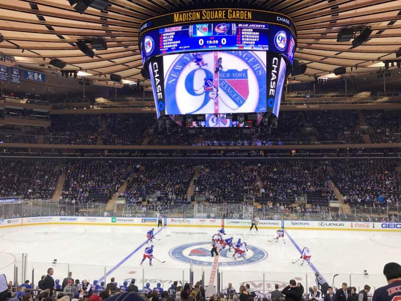 Sitzplatz-Aussicht für Madison Square Garden Abschnitt 107 Reihe 18 Platz 10
