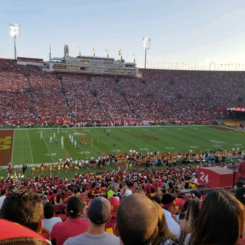 Sitzplatz-Aussicht für Los Angeles Memorial Coliseum Abschnitt 24L Reihe 57 Platz 11