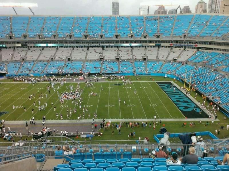 Sitzplatz-Aussicht für Bank of America Stadium Abschnitt 541 Reihe 15 Platz 20