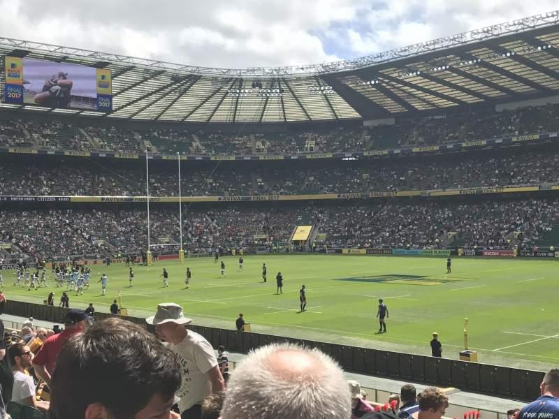 Sitzplatz-Aussicht für Twickenham Stadium Abschnitt L22 Reihe 21 Platz 109