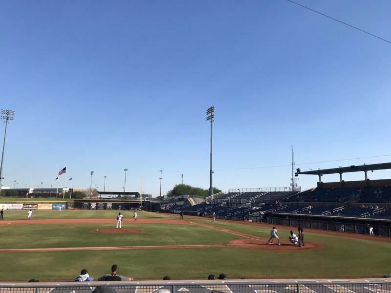 Sitzplatz-Aussicht für Peoria Sports Complex Abschnitt 109 Reihe O Platz 1