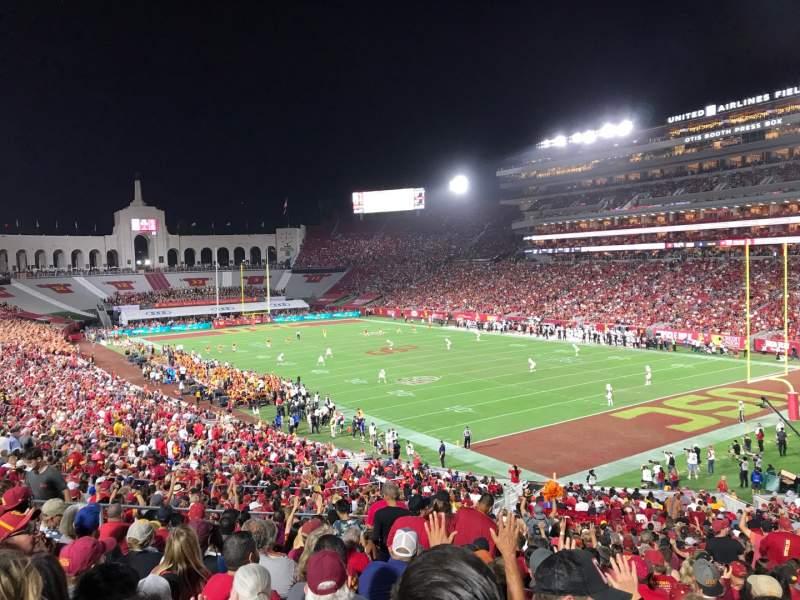 Sitzplatz-Aussicht für Los Angeles Memorial Coliseum Abschnitt 117 Reihe 43 Platz 12