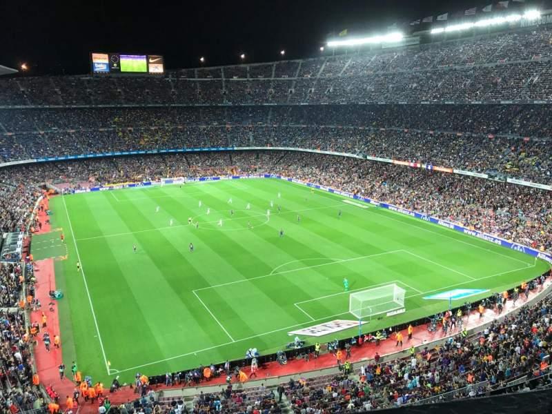 Sitzplatz-Aussicht für Camp Nou Abschnitt 416 Reihe 1 Platz 10