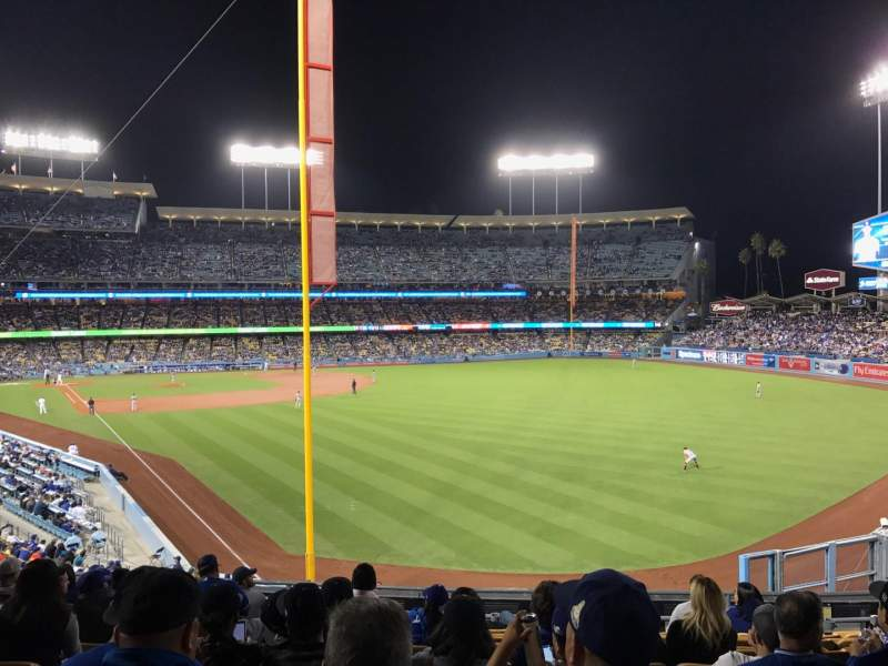 Dodger Stadium, Abschnitt: 166LG, Reihe: K, Platz: 4