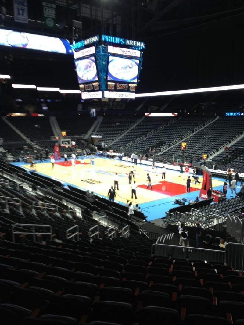 Philips arena, Abschnitt: 101, Reihe: X, Platz: 2