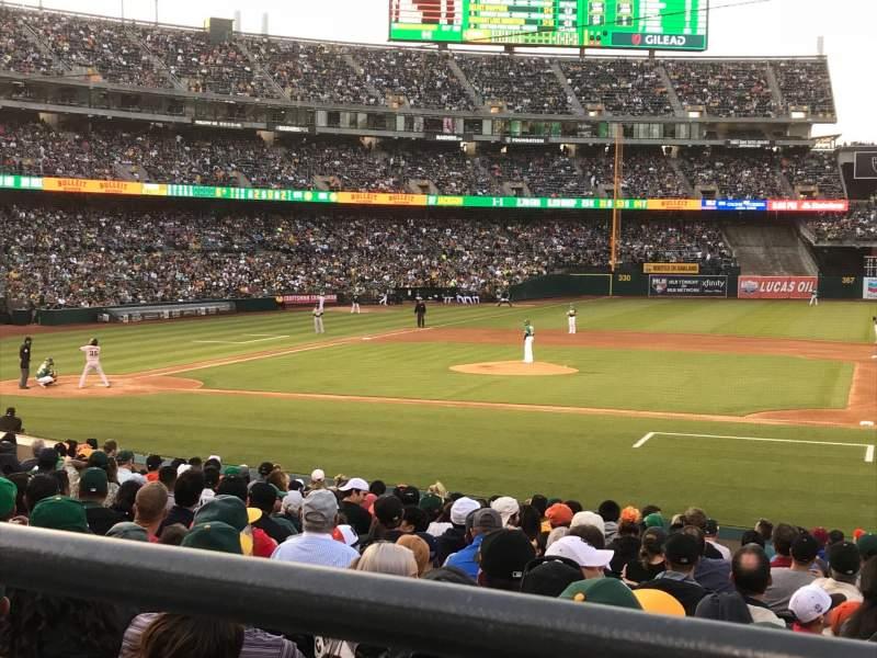 Sitzplatz-Aussicht für Oakland Alameda Coliseum Abschnitt 112R Reihe 21 Platz 3