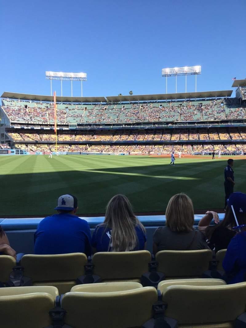 Sitzplatz-Aussicht für Dodger Stadium Abschnitt 51FD Reihe C Platz 11