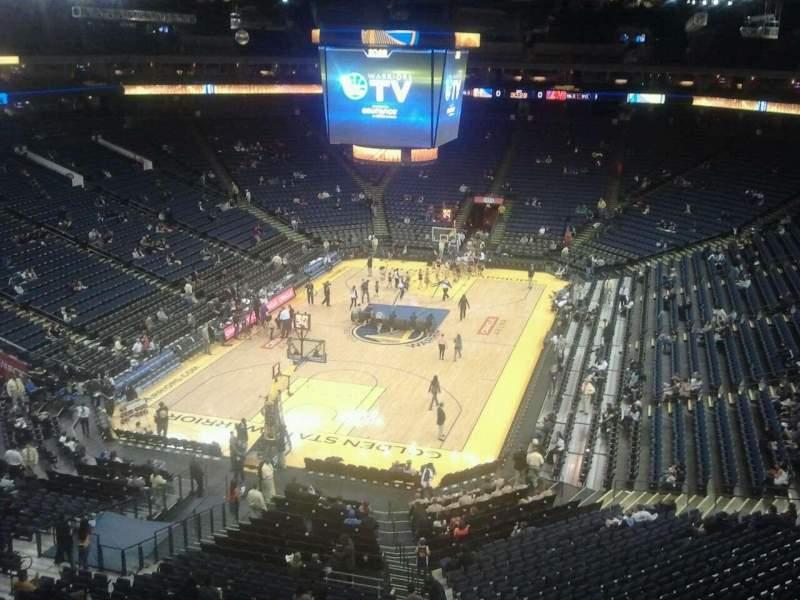 Sitzplatz-Aussicht für Oracle Arena Abschnitt 223 Reihe 1 Platz 4