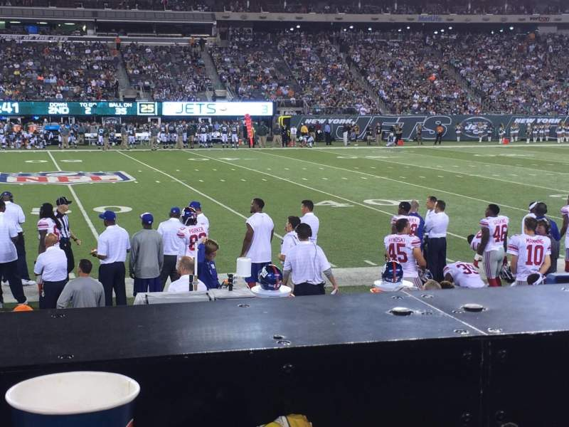 metlife stadium abschnitt 139 reihe 6 new york jets vs new york giants geteilt nach anonym