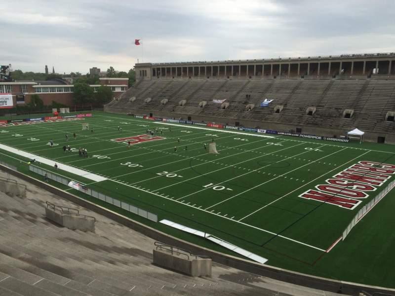 Sitzplatz-Aussicht für Harvard Stadium Abschnitt 25 Reihe NN Platz 8