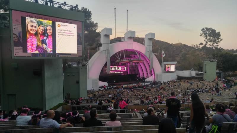Sitzplatz-Aussicht für Hollywood Bowl Abschnitt K3 Reihe 14 Platz 7