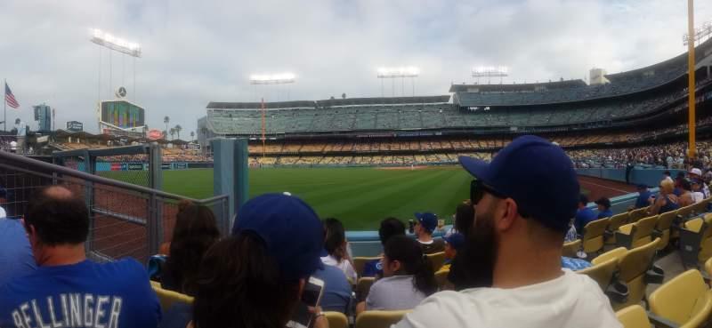 Dodger Stadium, Abschnitt: 53FD, Reihe: D, Platz: 5