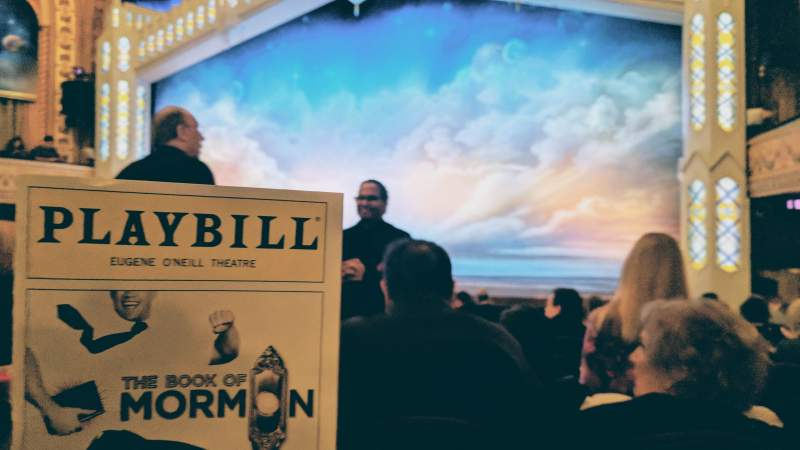 Eugene O'Neill Theatre, Abschnitt: Orchestra, Reihe: M, Platz: 2