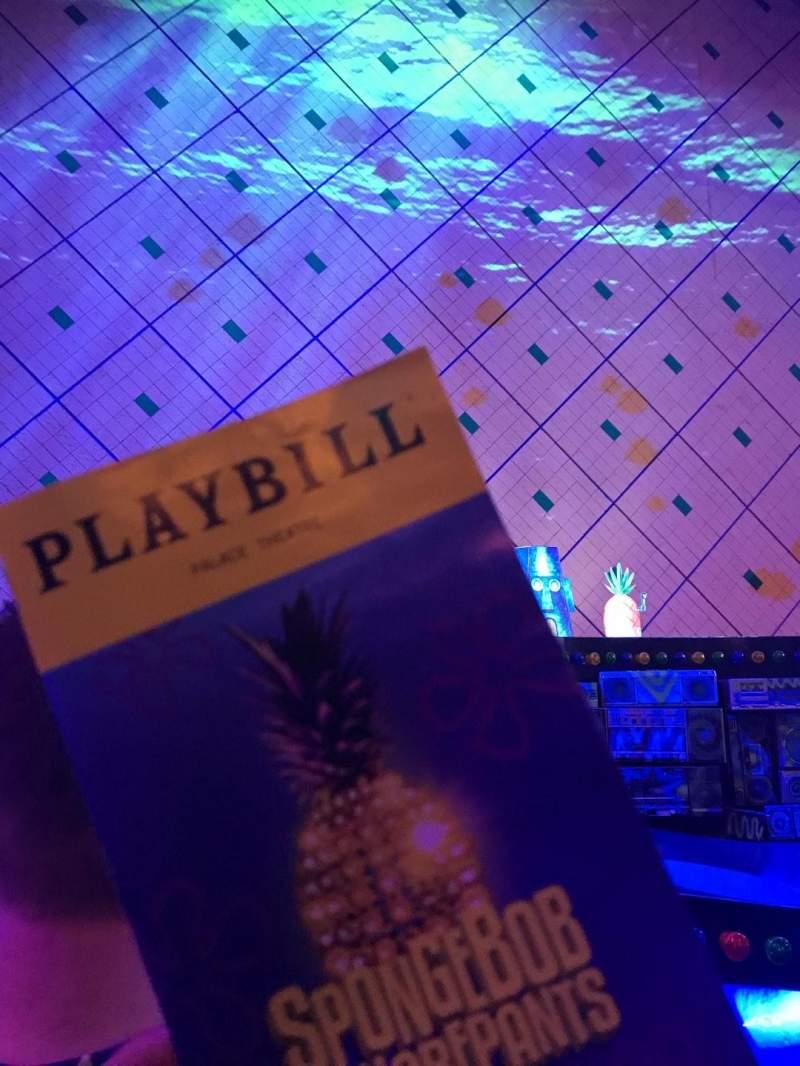 Palace Theatre (Broadway), Abschnitt: Orch, Reihe: C, Platz: 107